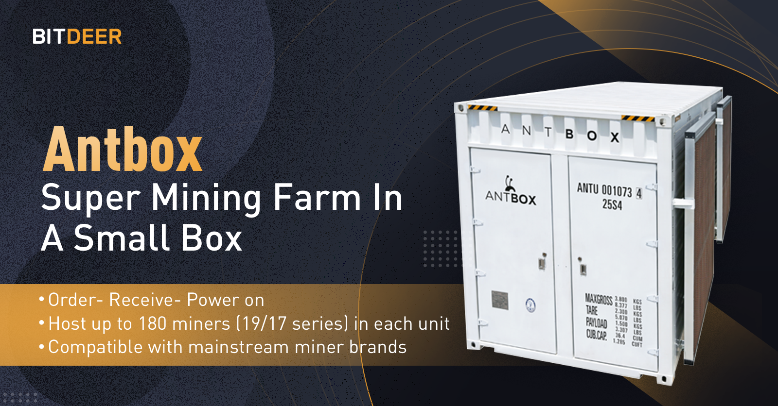 Bitdeer Introduces Antbox, an Integrated Mobile Mining Farm